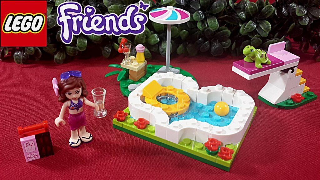 Lego Friends 41090 Маленький бассейн Оливии. Olivia's Garden Pool обзор на русском