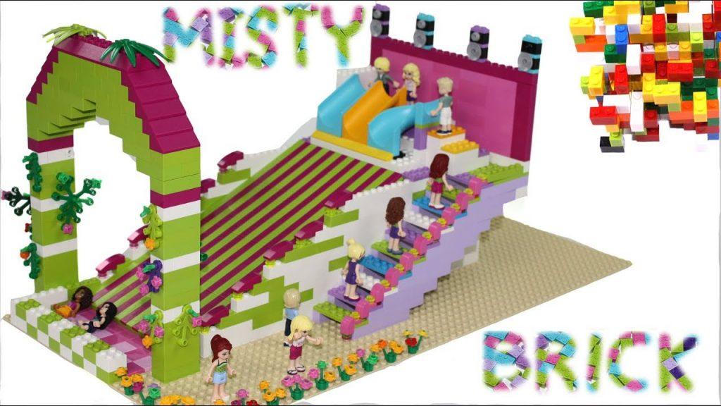 Lego Friends Amusement Park Slide by Misty Brick.