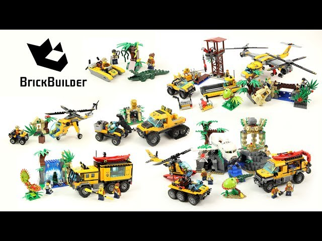 Lego City 2017 – All Jungle Sets Compilation – Lego Speed Build