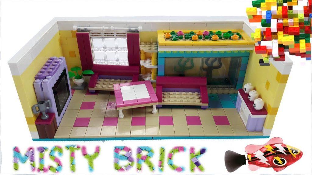Lego Friends Living Room   and Robofish Aquariumby Misty Brick.