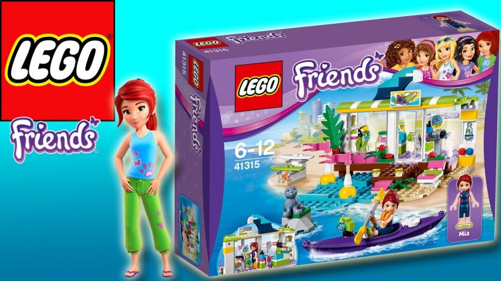 LEGO FRIENDS – HEARTLAKE SURF SHOP WITH MIA | Little Kelly & Friends ToysReview for Kids