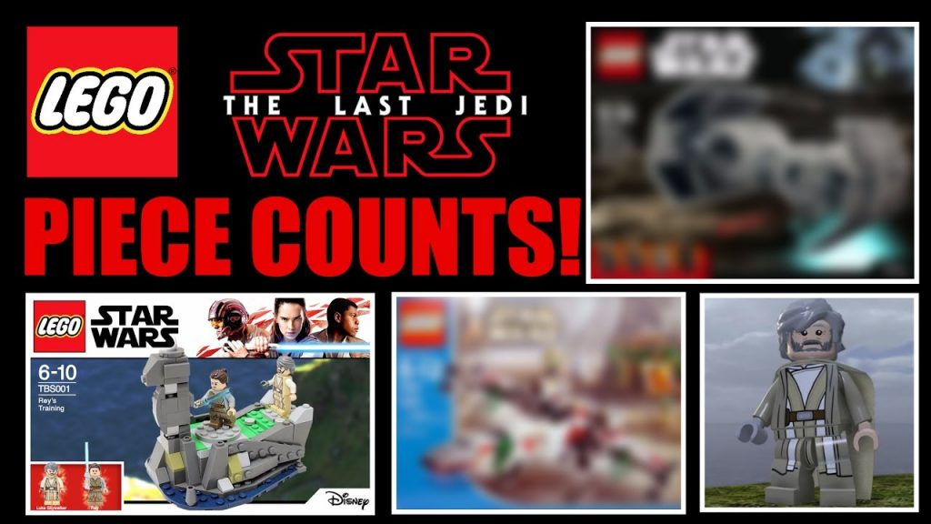 LEGO Star Wars THE LAST JEDI SET Piece Counts! (75190 First Order Star Destroyer & MORE!)