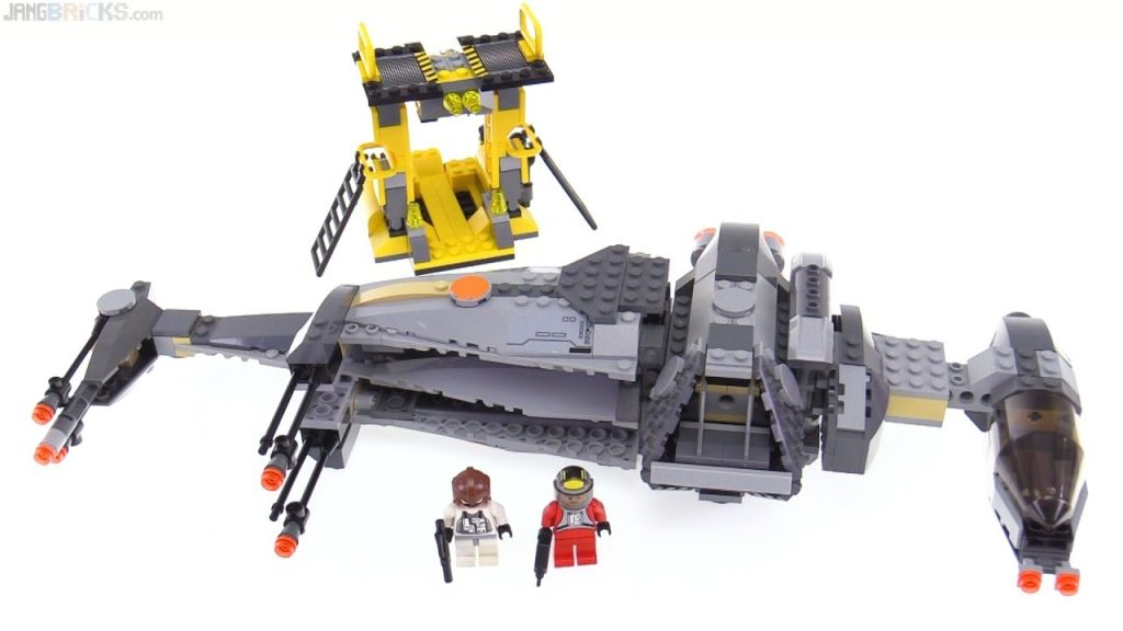 LEGO Star Wars B-Wing Fighter from 2006 reviewed! 6208