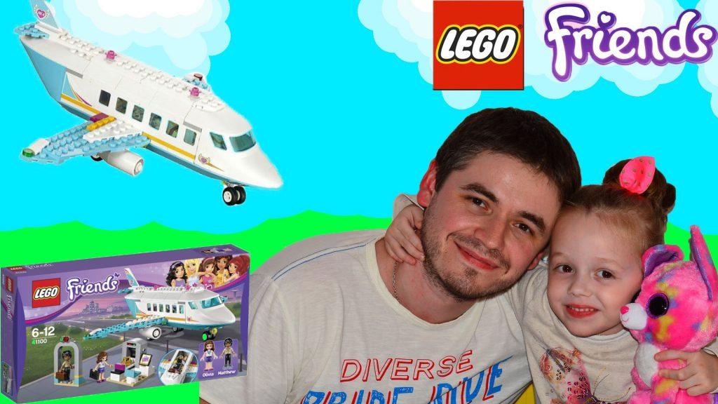 Lego Friends 41100 Частный самолет. Распаковываем, собираем и играем. Speed build