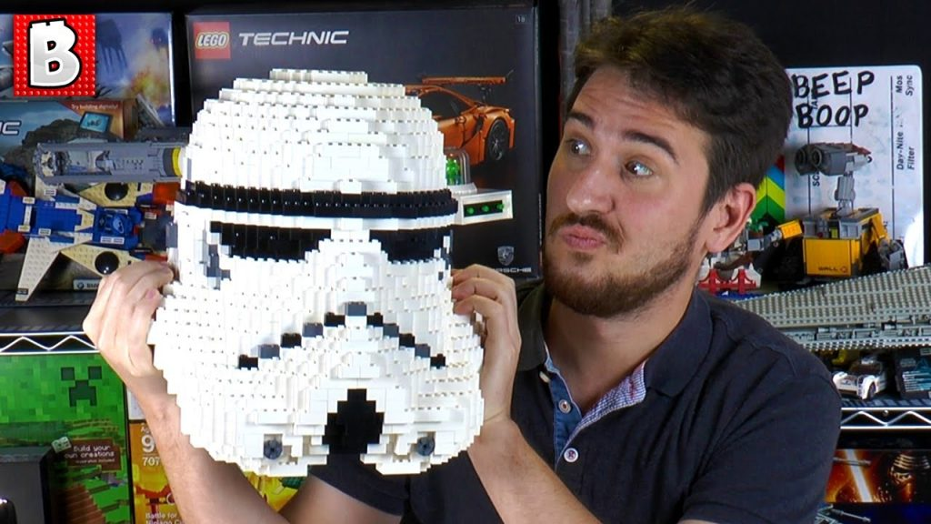 Life Size LEGO Stormtrooper Helmet!!! Star Wars MOC Review