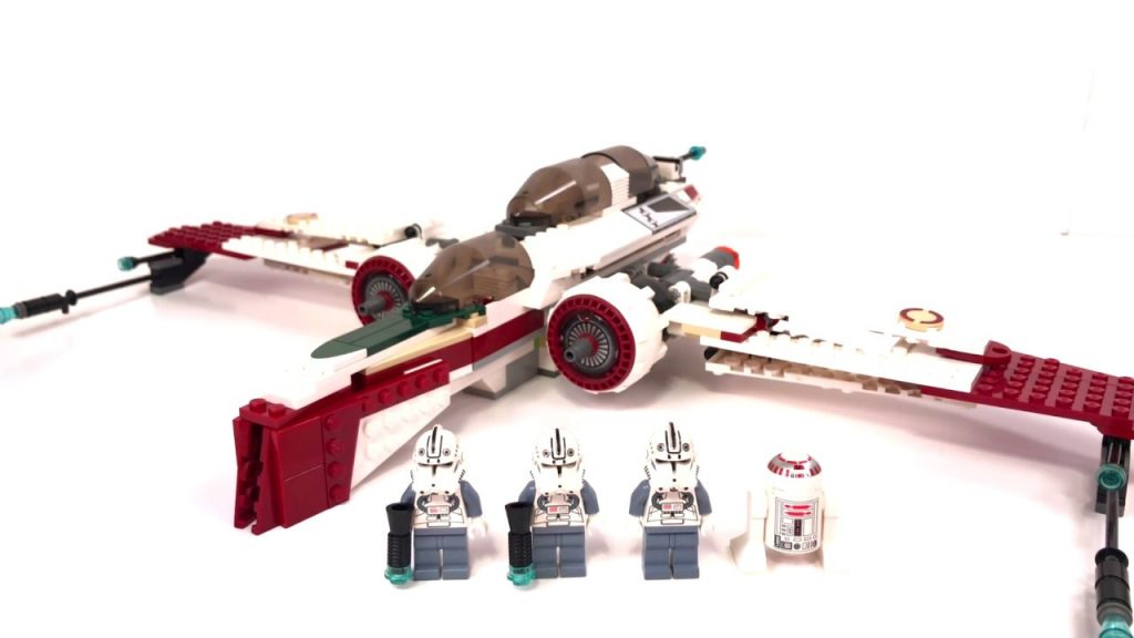 LEGO Star Wars ARC-170 Starfighter Review! LEGO 7259 Review! 2005 Set!
