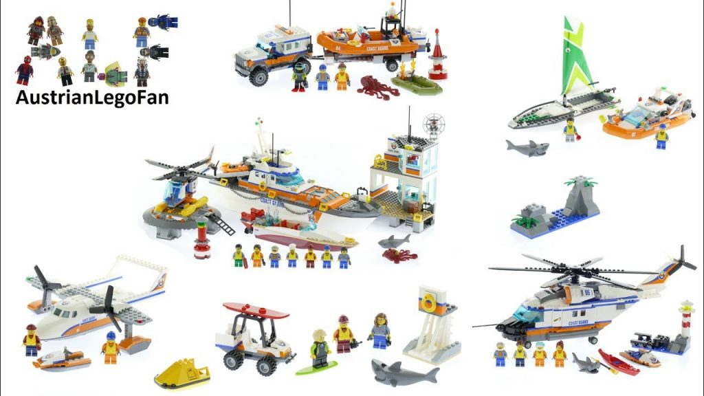 All Lego City Coast Guard  Sets 2017 – Lego Speed Build Review