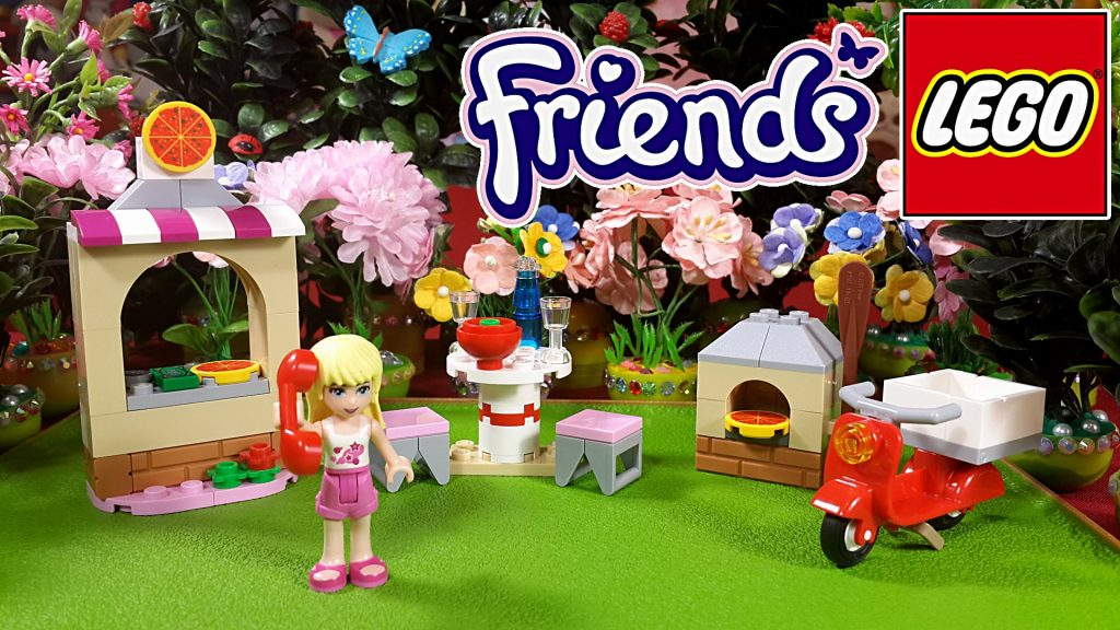 Lego Friends Пиццерия Стефани обзор + мультик с игрушками. Stephanies's Pizzeria Set 41092