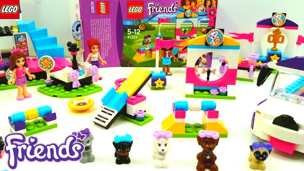 Lego Friends Puppy Playground 2017 building review 41303