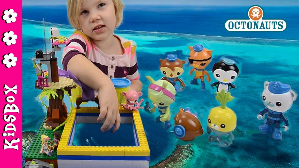 Octonauts  toys, LEGO Friends and Play-Doh.  Octonauts on vacation — Water Play with Lada