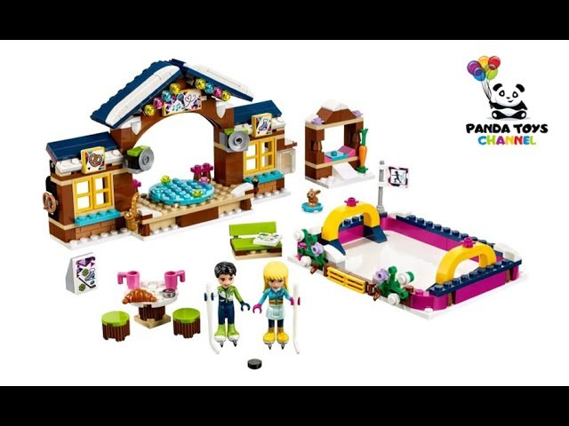 Snow Resort Ice Rink Speed Build – LEGO FRIENDS 41322 Unboxing + SET GIVEAWAY