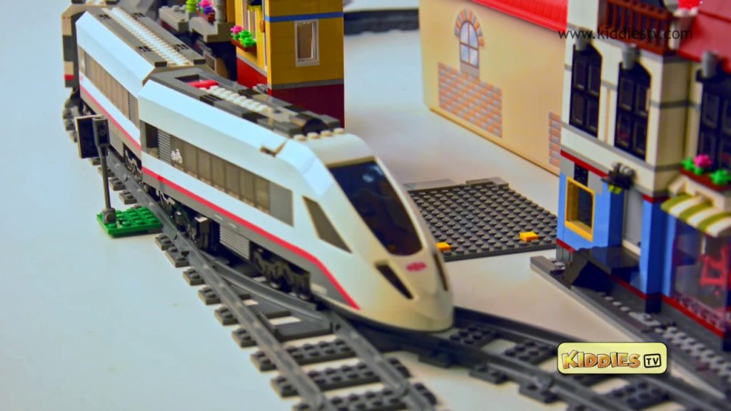 Lego City High Speed Passenger Train Story 60051 and Unboxing | Preschool  | Kindergarten  Kiddiestv