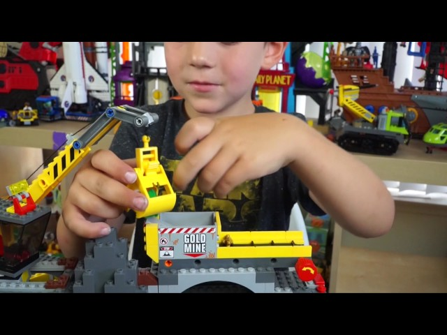 Lego City – Kid Playing with Legos Toys – Mining Vehicles and Trucks