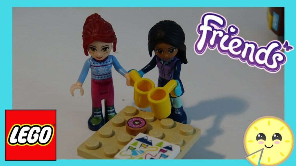 NEW LEGO Friends Snow Resort Hot Chocolate Van Speed Build Play Review