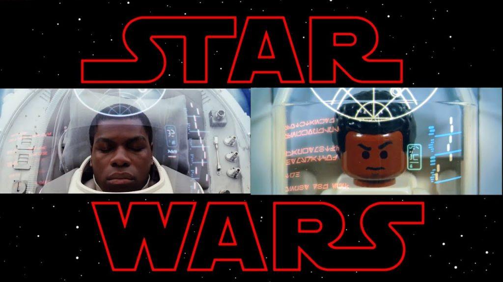 LEGO Star Wars animation The Last Jedi trailer Lego side by side