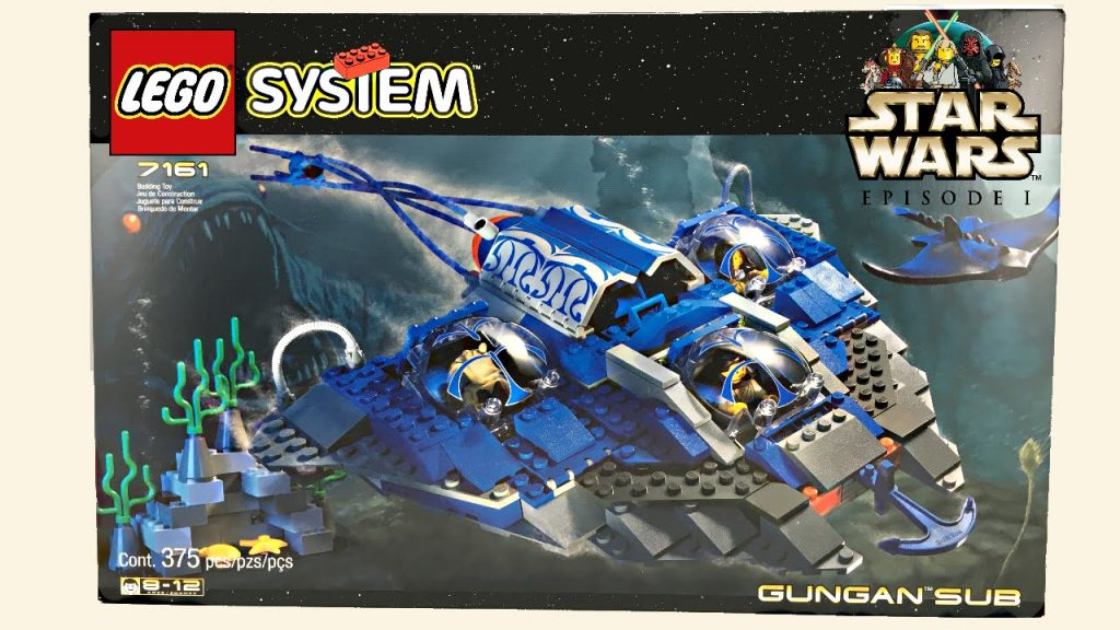LEGO Star Wars 1999 Gungan Sub set review! 7161!