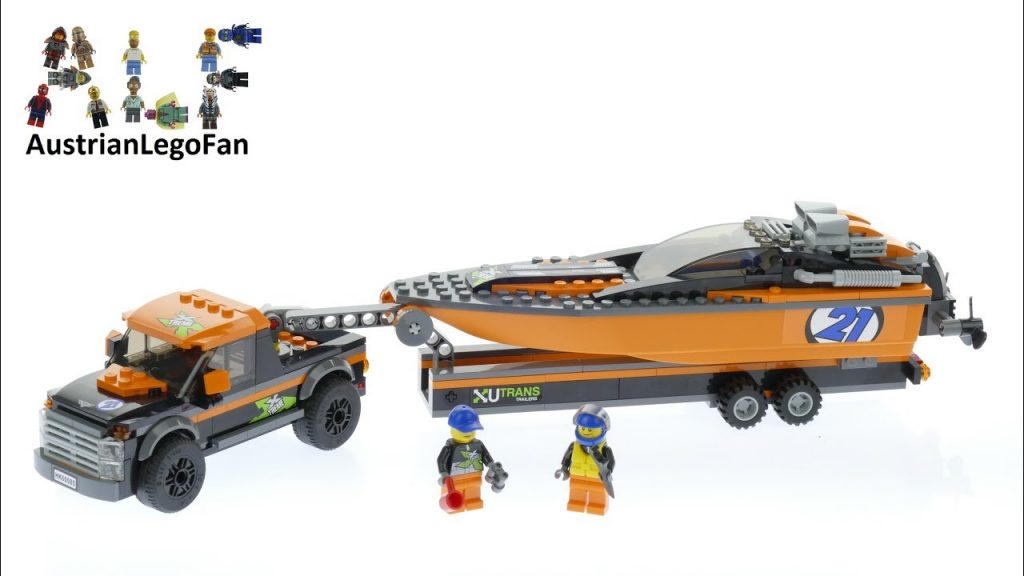 Lego City 60085 4×4 with Powerboat – Lego Speed Build Review