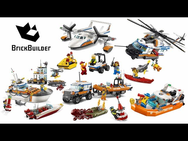 Lego City 2017 – All Coast Guard Compilation – Lego Speed Build