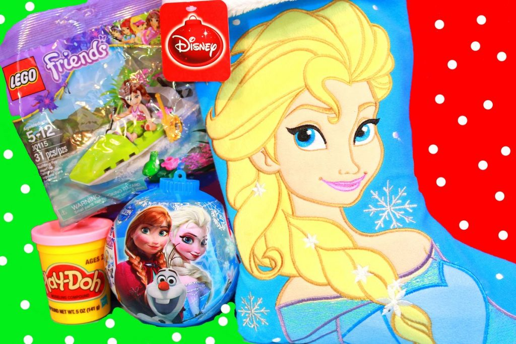 Surprise Christmas Stocking Disney Frozen Elsa Play-Doh Stuffers Lego Friends Princess Girls Toys