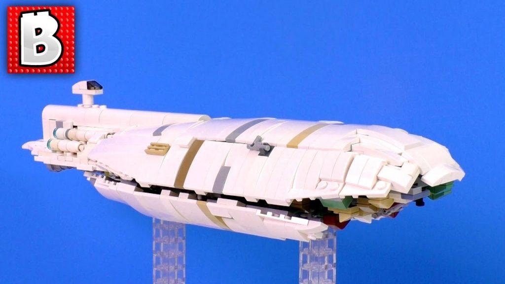 LEGO Star Wars GR-75 Medium Transport MOC 850+ parts | BUILD TIMELAPSE REVIEW
