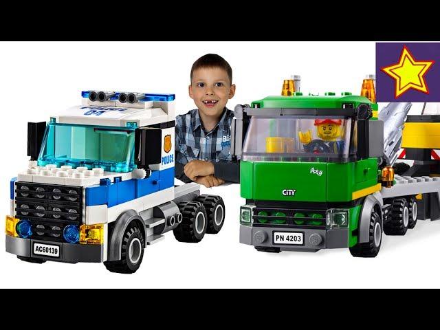 Машинки Полиция Лего против Воришек Кража строительной техники Lego City for kids