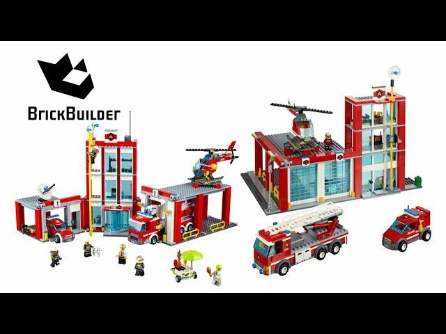 Lego City 60004 Fire Station vs 60110 Fire Station – Lego Speed Build