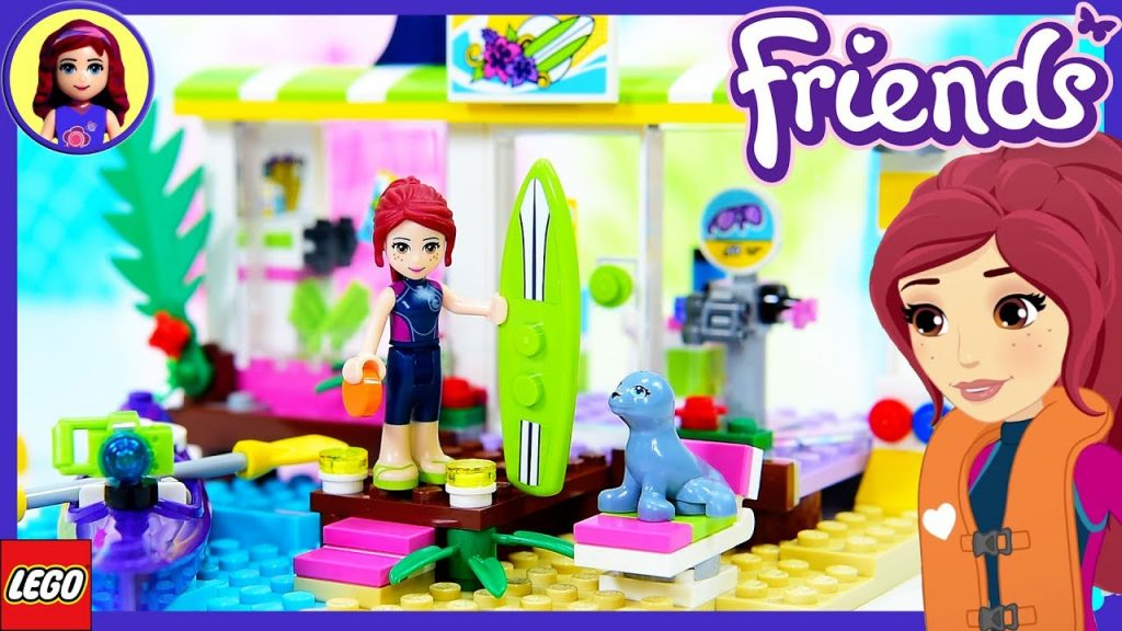 LEGO Friends Heartlake Surf Shop Review Build Silly Play Kids Toys