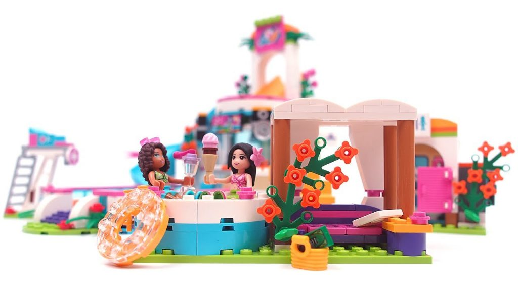 LEGO Friends Heartlake Summer Pool – Unboxing & Speed build & Stop Motion LEGO 41313