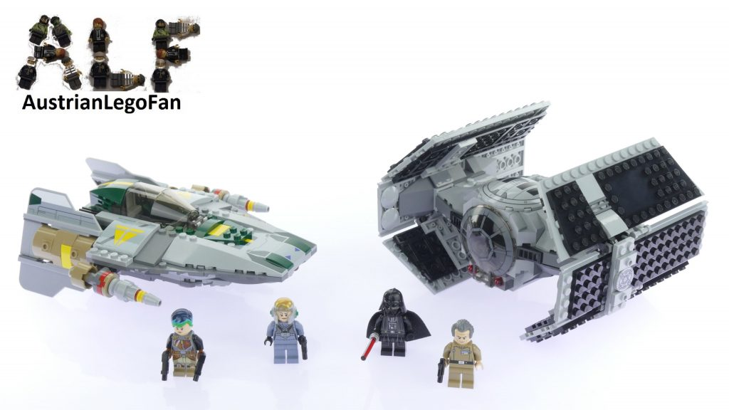 Lego Star Wars 75150 Vader´s TIE Advanced vs  A-wing Starfighter – Lego Speed Build Review