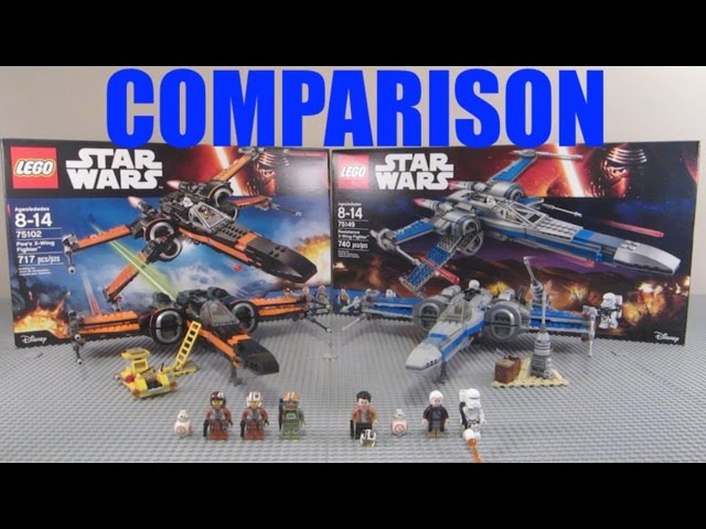 LEGO Star Wars Poe's X-Wing & Resistance X-Wing Comparison! (75102 vs 75149)