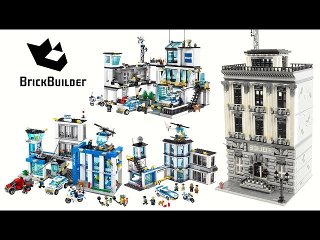 Lego City – All Police Stations from my channel Compilation – Lego Speed Build