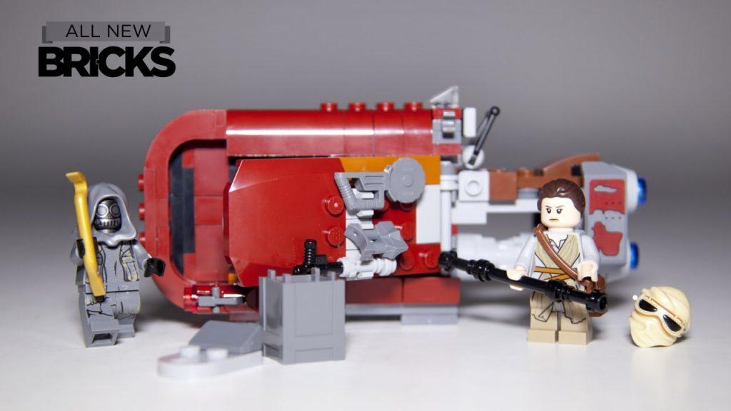 Lego Star Wars 75099 Rey's Speeder Speed Build