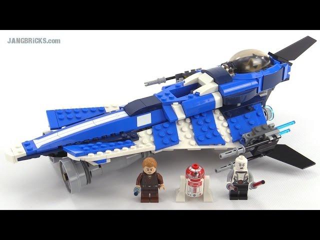 LEGO Star Wars Anakin's Custom Jedi Starfighter (Azure Angel) review! set 75087