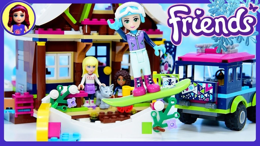 LEGO Friends Emma's Snow Resort Off Roader Build Review Silly Play Kids Toys