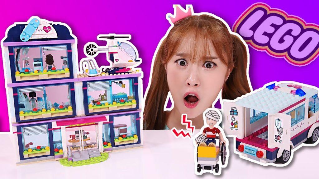 충돌사고 응급상황!! 레고프렌즈 하트레이크 병원 장난감 놀이 LEGO FRIENDS  – 지니