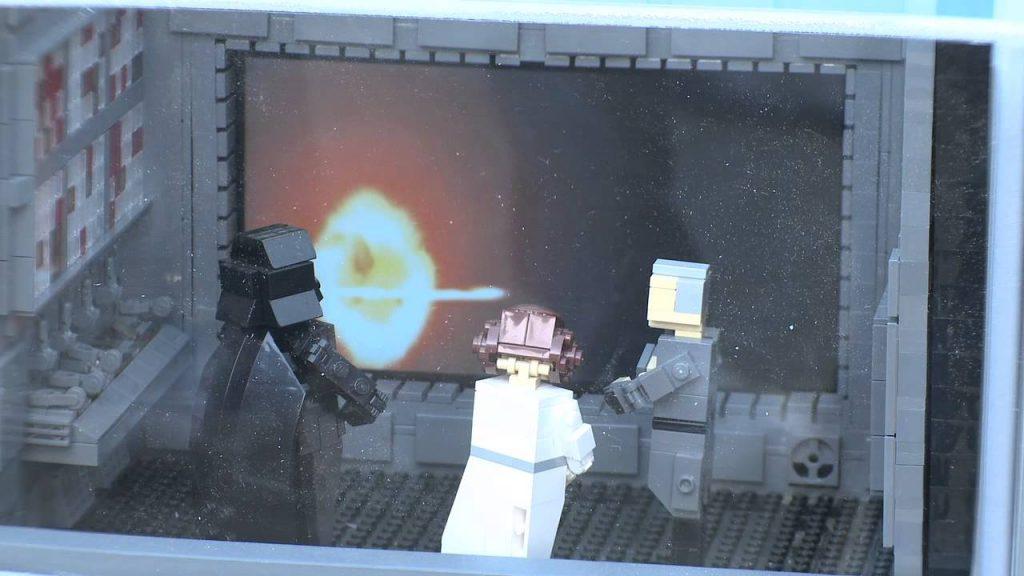 LEGO Star Wars Miniland Death Star Model Display at LEGOLAND California