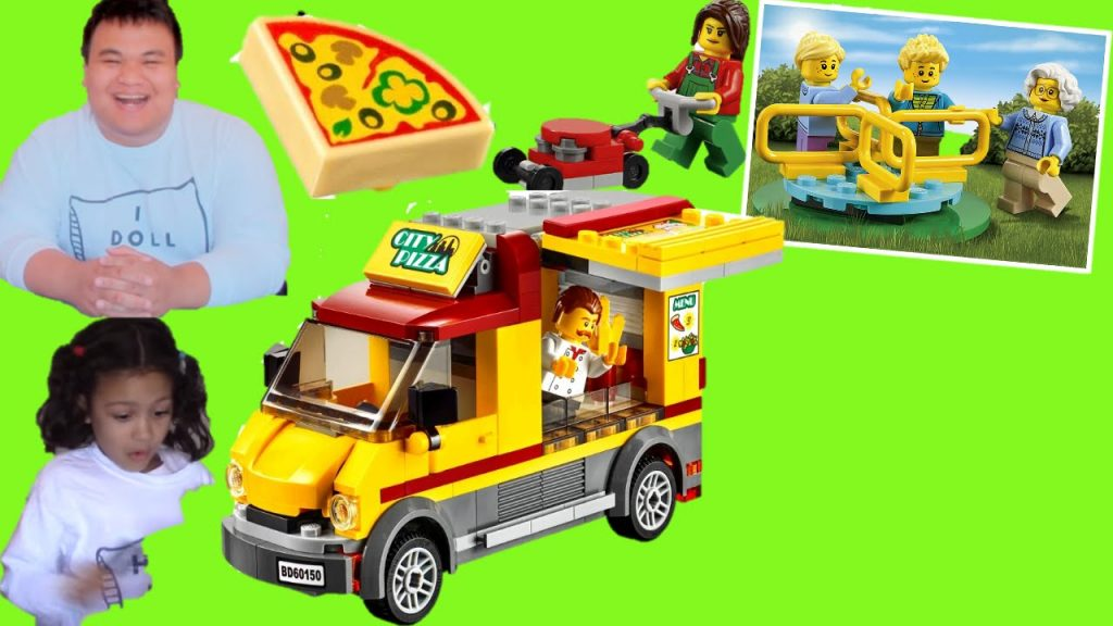 Lego City Pizza Van and Play In The Park:  Lego Review
