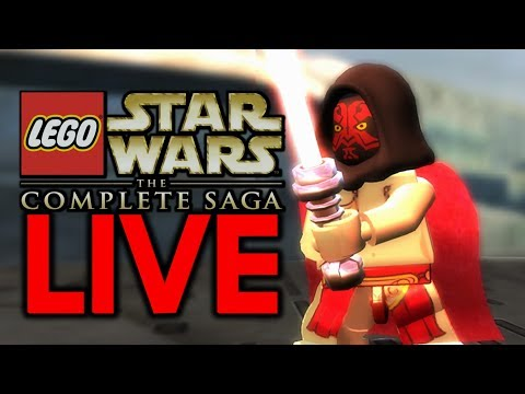 I'M ACTUALLY DOING THIS AGAIN! Lego Star Wars The Complete Saga Live Stream #2
