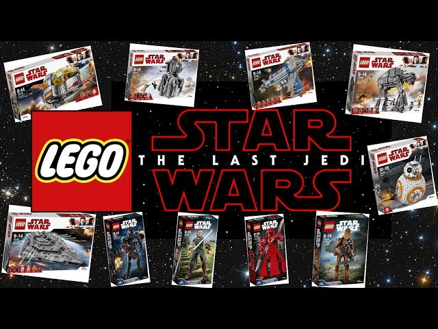 Lego Star Wars 2017 Last Jedi Set Pictures & Prices (ALL OFFICIAL HD)