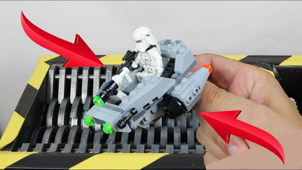 Experiment Shredding Lego Star Wars The Last Jedi And Toys | The Crusher
