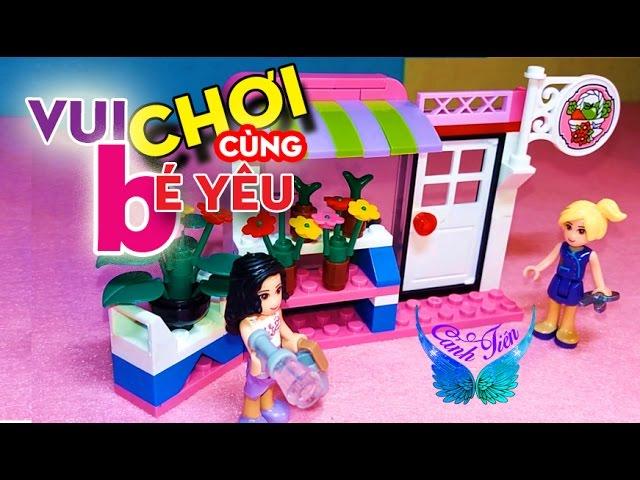 Mở hộp đồ chơi LEGO FRIENDS – xếp hình quầy bán hoa tươi ★ Chị Cánh tiên