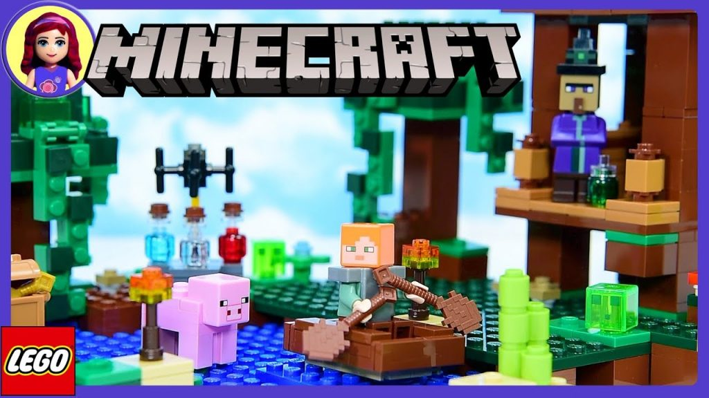 LEGO Minecraft The Witch Hut Review Build Setup Silly Play Kids Toys