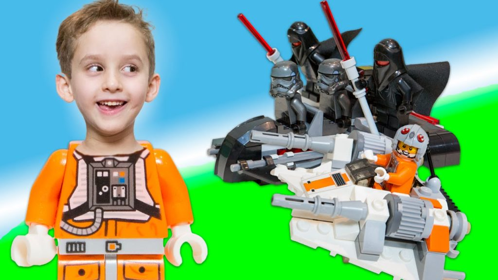 Paulinho Monta Lego Star Wars Snowspeeder e Shadow Troopers Brinquedos Infantil – Lego Toys Kids