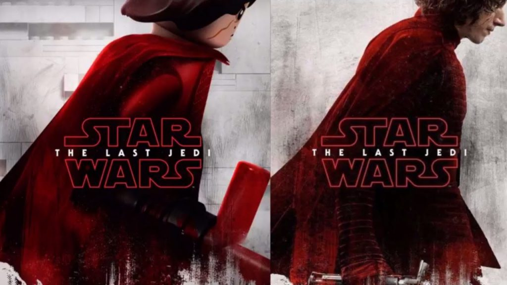 ALL Star Wars The Last Jedi Character Posters (Real VS Lego)