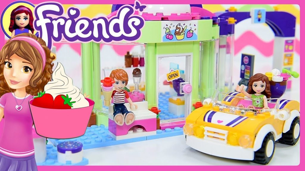LEGO Friends Heartlake Frozen Yoghurt Shop Build Review Silly Play Kids Toys