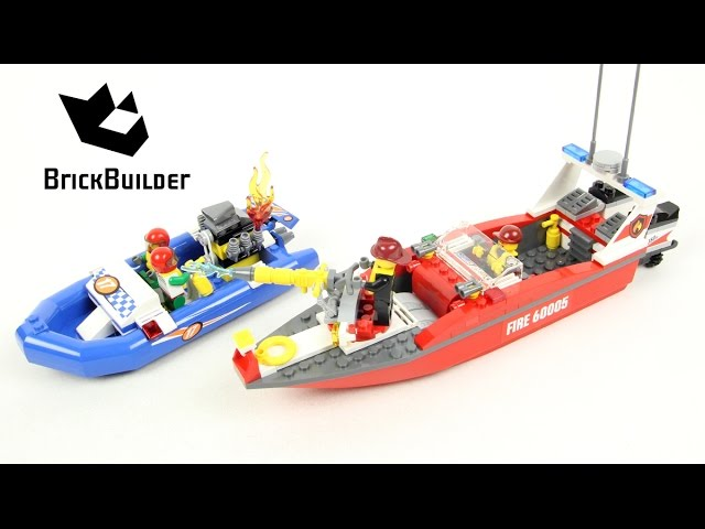 Lego City 60005 Fire Boat – Lego Speed Build