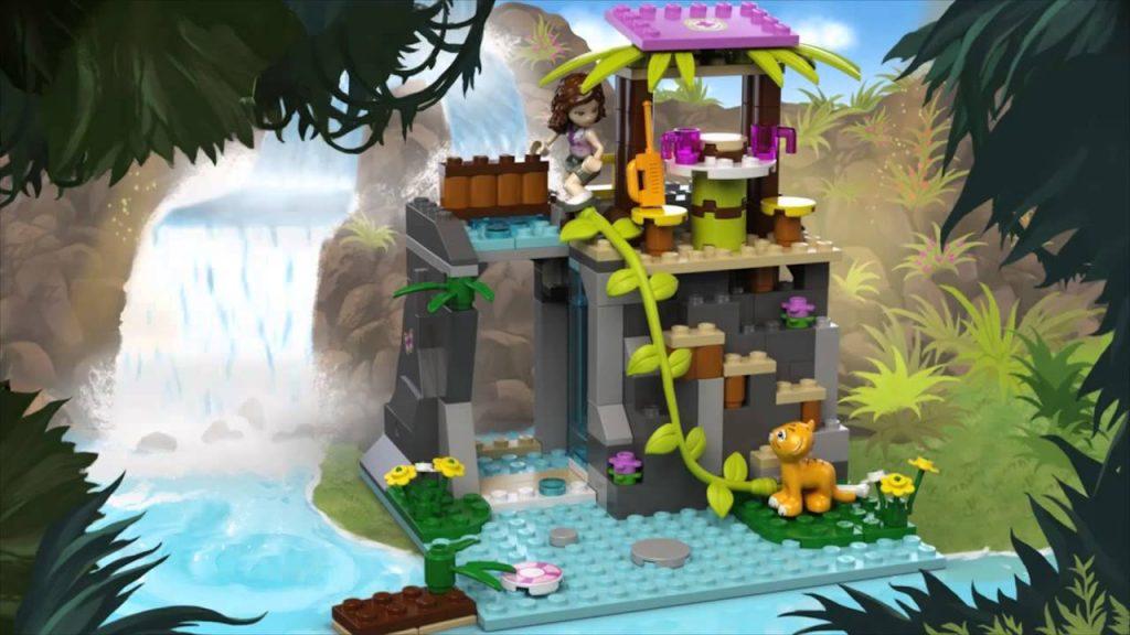 Конструктор LEGO Friends 41033 Джунгли: Спасение тигрёнка у водопада