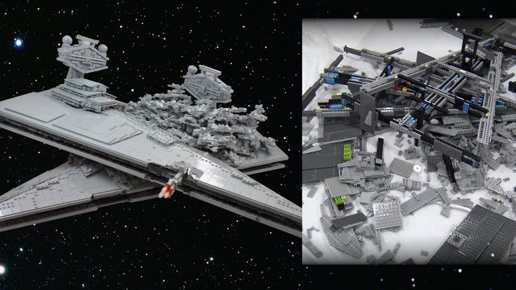 LEGO Star Destroyer Crash – DESTROYED!