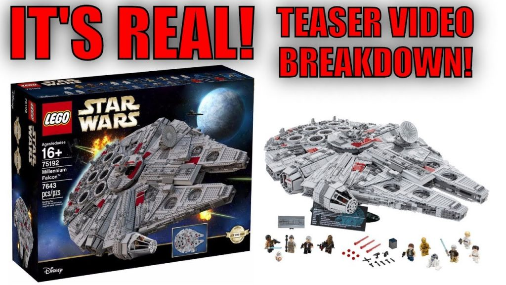 LEGO STAR WARS 2017 UCS MILLENNIUM FALCON TEASER VIDEO! | Breakdown & Analysis! | BB-8!