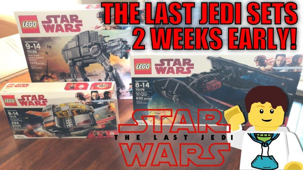 I GOT LEGO STAR WARS THE LAST JEDI SETS 2 WEEKS EARLY! (First Order Heavy Assault Walker +MORE SETS)